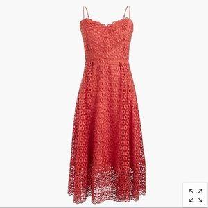 J Crew Smoky Coral Daisylace Dress in Sz 6